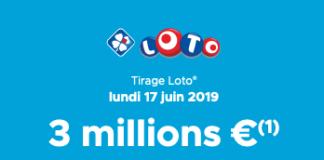 résultats loto fdj 17 juin 2019