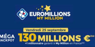 Pronostic et resultat Mega jackpot euromillions 25 Septembre 2020